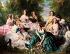 """Franz Xaver Winterhalter (1805-1873). """"Eugénie (1826-1920), impératrice des Français, et les Dames de sa Cour"""". Musée de Compiègne. © Iberfoto / Roger-Viollet"""