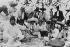 Revolution in Mexico (1910-1920), Emiliano Zapata, seated in the center. © Roger-Viollet