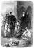 """François-René de Chateaubriand (1768-1848), French writer and politician, leaving Bethlehem (Palestine). Engraving illustrating """"L'itinéraire de Paris à Jérusalem"""". © Roger-Viollet"""