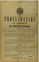 Proclamation from the Emperor to the French people, 1871. Bibliothèque historique de la Ville de Paris. © BHVP/Roger-Viollet