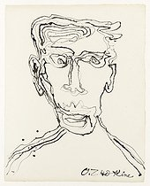 "Ossip Zadkine (1890-1967). ""Self-portrait"". Pen and Indian ink on grain paper. Paris, musée Zadkine.  © Musée Zadkine/Roger-Viollet"