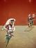 """Francis Bacon (1909-1992). """"La Crucifixion"""". Panneau droit du triptyque, 1944. Munich (Allemagne), New Picture Gallery. © Alinari/Roger-Viollet"""
