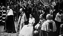 Coronation of Elizabeth II of England at the Westminster abbey. London (England), on June 2nd, 1953. © Roger-Viollet