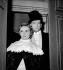 """Jeanne Moreau et Jean Marais dans """"Pygmalion"""" de George Bernard Shaw. Paris, théâtre des Bouffes Parisiens, janvier 1955. © Studio Lipnitzki / Roger-Viollet"""