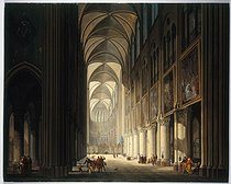Jean-François Depelchin (born in 1770). Interior view of Notre-Dame de Paris Cathedral in 1789. Oil on wood. Paris, musée Carnavalet. © Musée Carnavalet / Roger-Viollet
