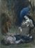 """Eugène Delacroix (1798-1863). """"Esquisse pour la dernière scène de Lélia"""". Pastel. Paris, musée de la Vie romantique. © Musée de la Vie Romantique/Roger-Viollet"""