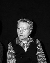 Simone de Beauvoir (1908-1986), French woman of letters and writer, June 1978. © Alain Bonhoure/Roger-Viollet