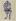 """Ossip Zadkine (1890-1967). """"Curieux personnage"""". Stylo feutre bleu, vert, brun et noir sur papier oriental à bords frangés, s.d.b.d : O. Zadkine 67. 1967. Paris, musée Zadkine.  © Musée Zadkine/Roger-Viollet"""