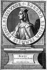 Berthe au grand pied (morte en 783), reine de France, épouse de Pépin le Bref. Gravure de Jacques de Bie (XVIème siècle). B.N.F. © Roger-Viollet
