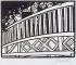 """Félix Vallotton (1865-1925). """"L'Exposition universelle de 1900, planche 1 - le trottoir roulant"""". Bois gravé, 1901. Musée des Beaux-Arts de la Ville de Paris, Petit Palais. © Petit Palais/Roger-Viollet"""