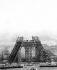 Construction of the Eiffel Tower. Paris, April 1888. © Roger-Viollet