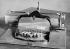 """Machine à écrire le """"Braille"""" pour aveugles, vue coté clavier. 1921. © Jacques Boyer/Roger-Viollet"""