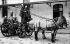 Horse-drawn steam pump of the Paris fire brigade, around 1900.  © Neurdein/Roger-Viollet