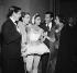 """Ballets de Londres"". Lycette Darsonval, Serge Lifar, Yvette Chauviré congratulating Margot Fonteyn. Opéra de Paris, October 1954. © Boris Lipnitzki / Roger-Viollet"