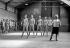 Dance lesson by Paulette Dynalix (1917-2007), French dancer. Paris Opera ballet school, April 1960. © Bernard Lipnitzki / Roger-Viollet