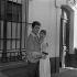 "Shooting of ""Quand la femme s'en mêle"", film by Yves Allégret (1957), after a novel by Jean Amila (1956). Sophie Daumier and Alain Delon. France, 1957. © Alain Adler / Roger-Viollet"