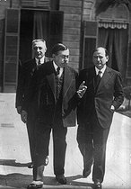 Edouard Daladier (1884-1970) and Paul Painlevé (1863-1933), French politicians. © Albert Harlingue / Roger-Viollet