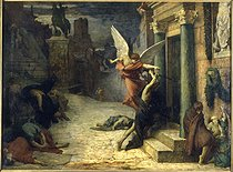 Jules Delaunay (1828-1891). The plague in Rome. From the Golden legend by Jacques de Voragine (Saint Sebastian's legend), 1869. Paris, musée d'Orsay. © Roger-Viollet