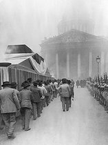 Procession for the transfer to the Pantheon of the ashes of Jean Jaurès (1859-1914), French politician. Paris, 1924. © Roger-Viollet