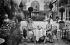 Women's fashion. Ladies drinking some tea in the garden of the Ritz Hotel. Paris (Ist arrondissement), 1930.  © Boris Lipnitzki/Roger-Viollet