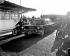John Foster Dulles (1888-1959), secrétaire d'Etat américain, arrivant à Orly, 13 décembre 1957.  © Roger-Viollet
