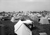 The camping-site of Blonville-sur-Mer (Calvados). © CAP / Roger-Viollet