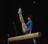 Jeux olympiques d'été de 1980. Nadia Comaneci (née en 1961), gymnaste roumaine, à la poutre. Moscou (U.R.S.S.), 1980.  © Schlage/Ullstein Bild/Roger-Viollet