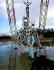 Neil Armstrong (1930-2012), astronaute américain, posant devant le prototype du module lunaire Apollo. Langley Research Center de la NASA (Etats-Unis), 12 février 1969.  © Ullstein Bild/Roger-Viollet