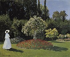"""Claude Monet (1840-1926). """"Femme au jardin"""". Huile sur toile, 1867. Saint-Pétersbourg (Russie), musée de l'Ermitage. © Iberfoto / Roger-Viollet"""