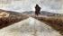 "Amedeo Modigliani (1884-1920). ""La route toscane"". Huile sur carton, avant-garde, vers 1899. Livourne (Italie), musée civique Giovanni Fattori. © Iberfoto / Roger-Viollet"
