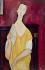 "Amedeo Modigliani (1884-1920). ""Femme à l'éventail, Lunia Czechowska"", 1919. Paris, musée d'Art moderne. © Musée d'Art Moderne/Roger-Viollet"