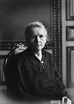 Marie Curie (1867-1934), French physicist. 1926. © Albert Harlingue/Roger-Viollet