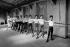 Dance lesson for boys. Paris Opera ballet school, April 1960. © Bernard Lipnitzki / Roger-Viollet