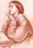 "Christina Rossetti (1830-1894), poétesse anglaise. Supplément de ""The Bookman"", 1912.  © TopFoto / Roger-Viollet"