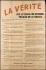 """Guerre 1939-1945. """"La vérité sur le travail des ouvriers français en Allemagne"""". Affiche, 1942. Musée du Général Leclerc de Hauteclocque et de la Libération de Paris, musée Jean Moulin.  © Mémorial Leclerc - Musée Jean Moulin/Roger-Viollet"""