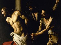 Flagellation of the Christ at the column, by Caravaggio (about 1571-1610). Musée de Rouen. © Roger-Viollet