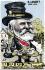 Caricature sur Emile Loubet (1838-1929), président de la République française. Carte postale humoristique. © Roger-Viollet