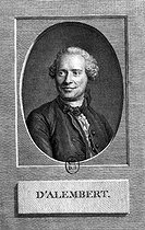 Jean d'Alembert (1717-1783), French mathematician and philosopher. Engraving after La Tour, 1788. French National Library. © Roger-Viollet