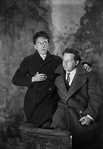 Arthur Honegger (1892-1955), Swiss composer and Jean Cocteau (1889-1963), French playwright and director. © Studio Lipnitzki / Roger-Viollet