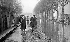 Flood of the Seine, in Paris, Saint Germain boulevard. January, 1910.  © Neurdein/Roger-Viollet