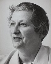 Marie-Thérèse Eyquem (1913-1978), French socialist, president of the women's democratic movement. 1969. Photograph by Janine Niepce (1921-2007). © Janine Niepce / Roger-Viollet