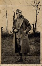 Missak Manouchian (1906-1944), Armenian poet and resistance fighter, wearing his military uniform while on leave. © Archives Manouchian / Roger-Viollet