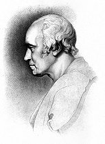 James Watt (1736-1819), Scottish engineer and mechanic. Engraving (XIXth century). © Roger-Viollet