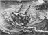 """Cornélis Visscher (1629-1662). """"Vaisseaux de haut bord dans la tempête (caravelles)"""". Gravure du XVIIème siècle. B.N.F. © Roger-Viollet"""