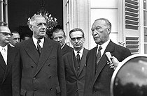 Charles de Gaulle (1890-1970), President of the French Republic, and Konrad Adenauer (1876-1967), German Chancellor. Bonn (Germany), May 1961. © Roger-Viollet