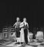 """""""Le Faiseur"""" de Balzac. Philippe Noiret et Jean Vilar. Paris, TNP, février 1957. © Studio Lipnitzki/Roger-Viollet"""