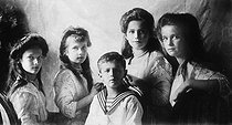 Russian imperial family : the grand duchesses and the tsarevich Alexis, children of Nicholas II (1868-1918). © Maurice-Louis Branger / Roger-Viollet