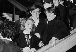 Robert Boulin case. Boulin family : Colette Boulin (wife), Bertrand Boulin (son), Fabienne Boulin-Burgeat (daughter). Versailles (France), on January 17, 1984. © Jean-Régis Roustan / Roger-Viollet