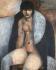 """Marcel Gromaire (1892-1971). """"Etude de nu au manteau"""". Huile sur toile, 1929. Paris, musée d'Art moderne. © Musée d'Art Moderne/Roger-Viollet"""
