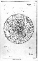 Astronomy. The southern hemisphere. Encyclopedia of Diderot (XVIIIth century). © Roger-Viollet